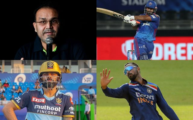 Virender Sehwag, Rishabh Pant, Virat Kohli, Krunal Pandya