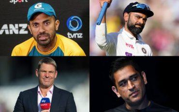 Wahab Riaz, Virat Kohli, Shane Warne, MS Dhoni