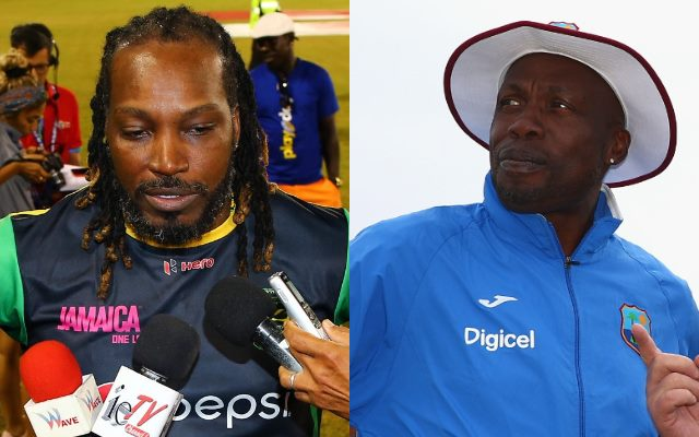 Chris Gayle and Curtly Ambrose