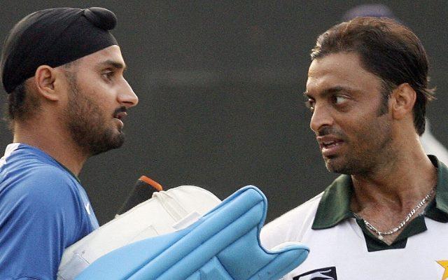 Harbhajan Singh and Shoaib Akhtar