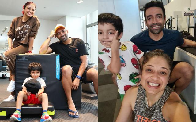 Robin Uthappa and family