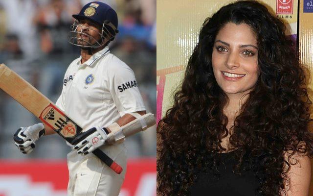 Sachin Tendulkar and Saiyami Kher