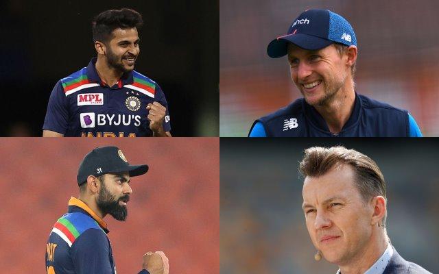 Shardul Thakur, Joe Root, Virat Kohli and Brett Lee