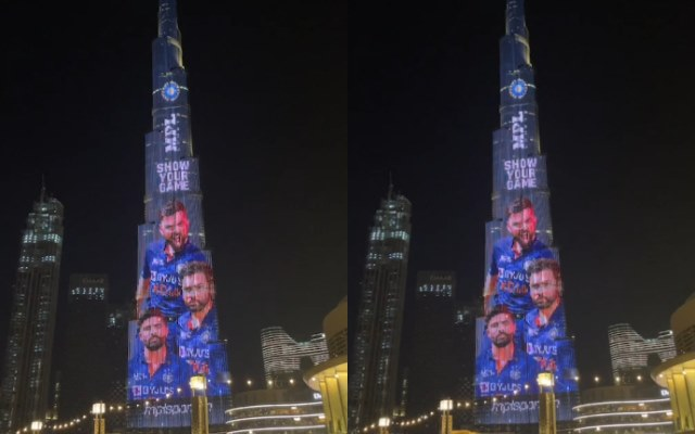 Team India's jersey launched in Burj Khalifa