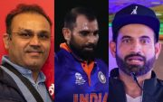 Virender Sehwag, Mohammed Shami and Irfan Pathan