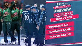 T20 World Cup 2021 - Match 2, BAN vs SCOT, Winner Prediction, Predicted XI, Stats, CricTracker