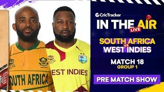 T20 World Cup Match 18 Cricket Live - #SAvWI Pre Match Analysis #T20WC